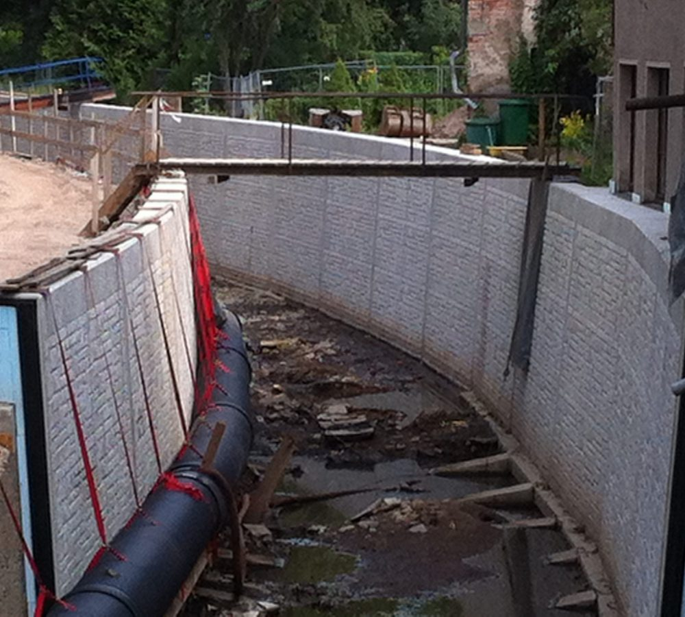 Hochwasserschutzwand